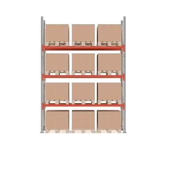 Ultimate pallet racking, basic unit, 4000x2750x1100 mm, 12 pallets