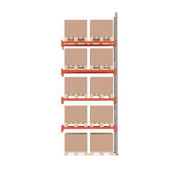 Ultimate pallet racking, add-on unit, 5000x1850x1100 mm, 10 pallets