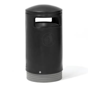 Outdoor waste bins: grey