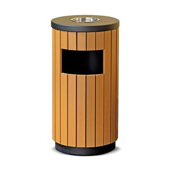 Classic outdoor waste bin: ashtray top: 33L