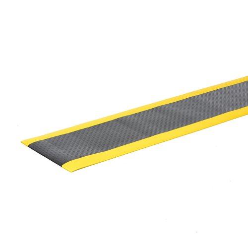 Työpistematto, leveys: 600 mm, metritavara, musta, keltainen