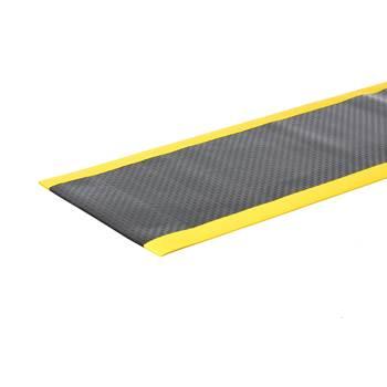 Avlastningsmatte, bredde: 910 mm, metervare, svart/gul