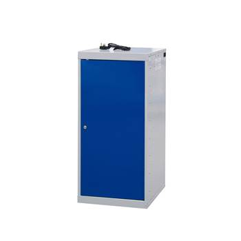 Charging laptop cabinet, 1 door, 1000x500x500 mm, blue