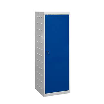 Charging laptop cabinet, 1 door, 1460x500x500 mm, blue