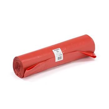 Czerwony worek na odpady, Pojemność:125 l
