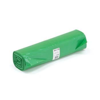 Värilliset jätesäkit, 25 kpl, 125 litraa, vihreä