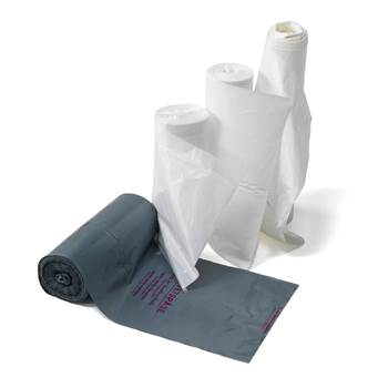 Sanitation bags, 100-pack, 25 L, grey