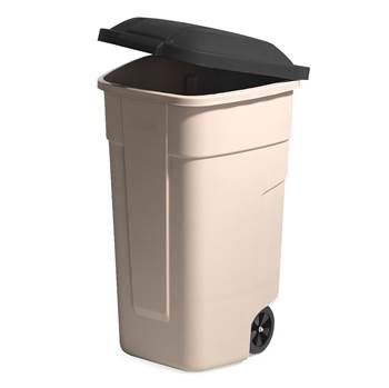 Refuse sorting container, 900x510x580 mm, 100 L, black