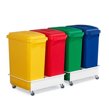 Package deal, 4 bins + lids + 2 trolleys