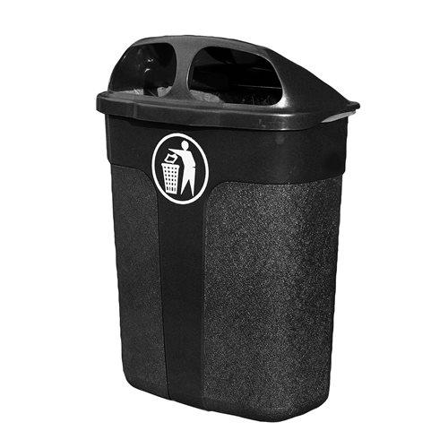 Klassinen roska-astia, 60 litraa, musta