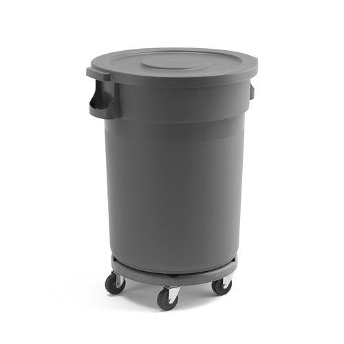 Pojemnik na śmieci z pokrywą i wózkiem