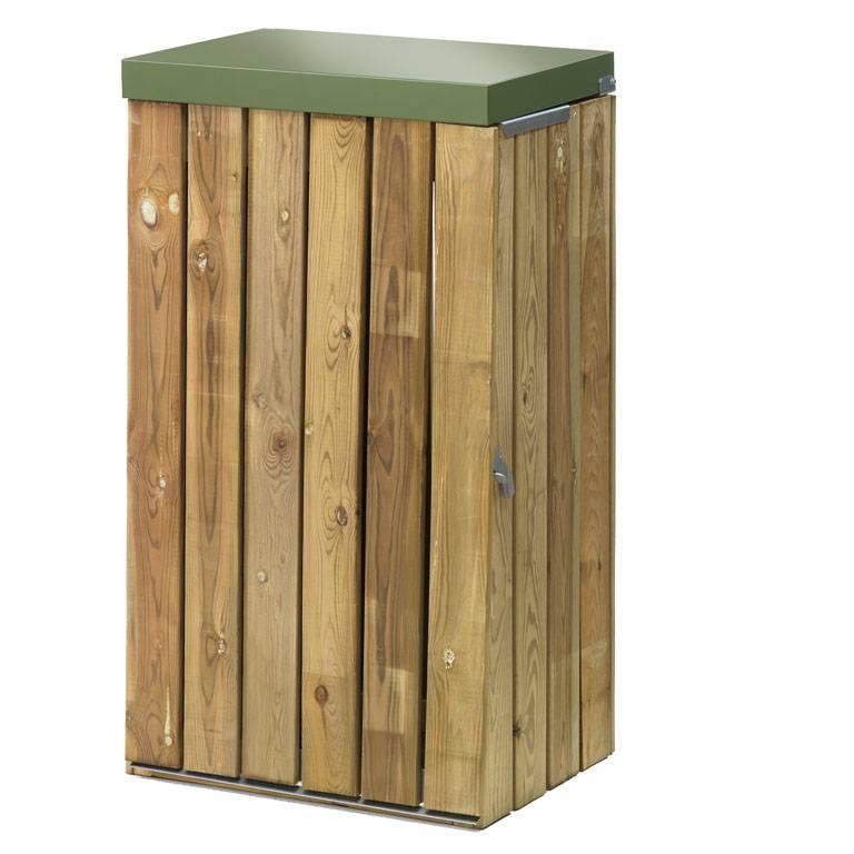 Outdoor waste bin: plain lid