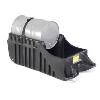 Drum cradle with sump, 250 L sump capacity
