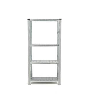 Galvanised shelving with sump tray, basic unit, 1972x900x400 mm, 14 L