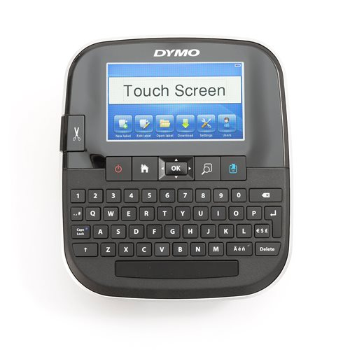 Handheld label printer with touch screen