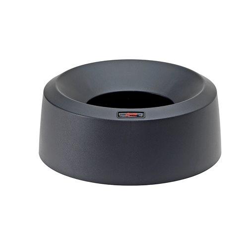 Czarna pokrywa z dużym otworzem wrzutowym