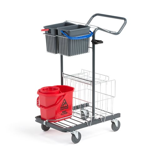 Medium Cleaning Trolley 710x430x960mm Aj Products