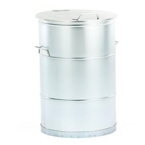 Roska-astia, 160 litraa, galvanoitu