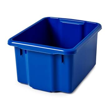 Niebieski pojemnik platikowy 23 l - 330x225x410mm