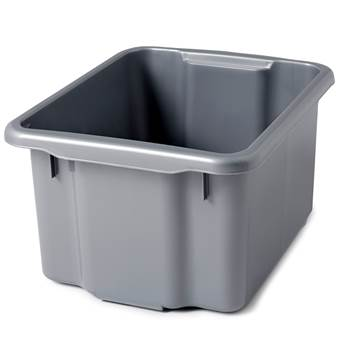 Storage box, 410x330x225 mm, 23 L, grey
