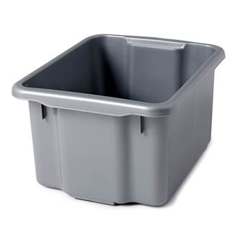 Storage box, 600x400x350 mm, 55 L, grey