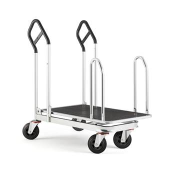 Platform trolley with sidebars, 250 kg load, 1100x610x1130 mm