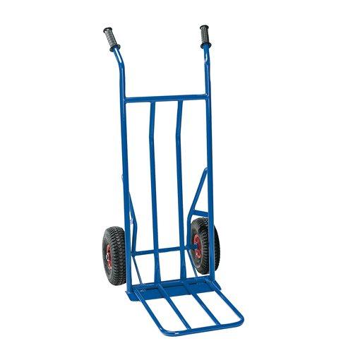 Nokkakärry, 250 kg, ilmakumipyörät, sininen