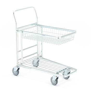 Folding shelf trolley, basket shelf, 300 kg load, 890x520x1010 mm
