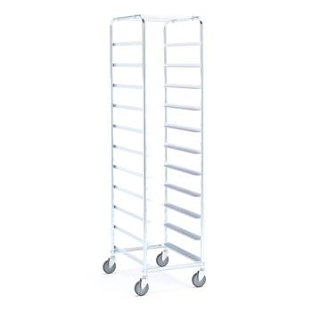 Tray trolley without bins, for 11 trays, 1880x590x460 mm