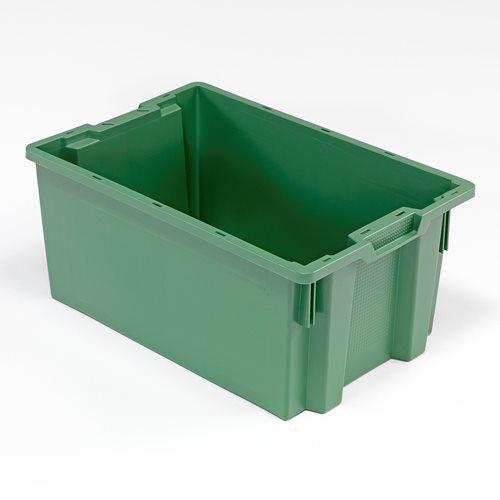 Muovilaatikko, pinottava, 50 litraa, 600x400x270 mm, vihreä