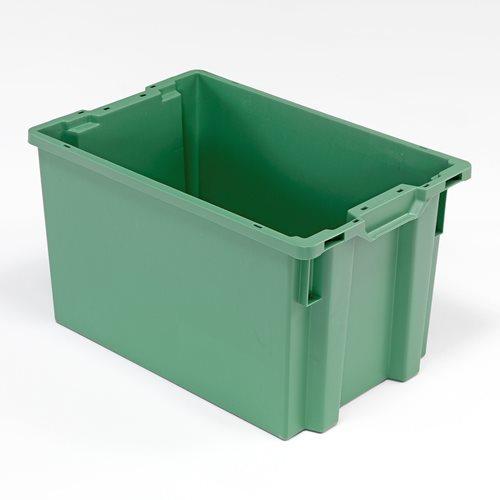 Zielona pojemnik plastikowy o poj. 66l - 400x350x600mm