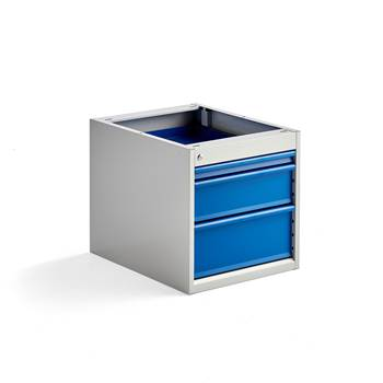 Elite drawer unit, under bench, 3 drawers, 540x520x665 mm