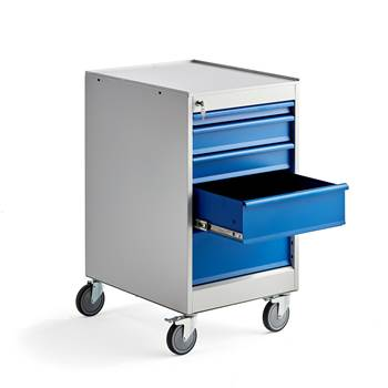 Elite drawer unit, mobile, 5 drawers, 960x520x665 mm