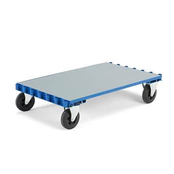 Flexible trolley, no brakes, 800x1250 mm