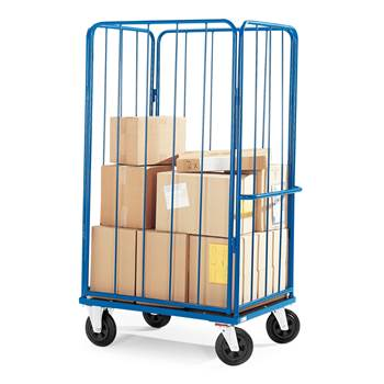 High sided cage trolley, 500 kg load, 980x710x1595 mm