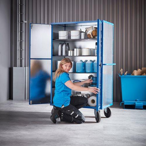 Lockable mobile storage cabinet: 1000x700x1790 mm