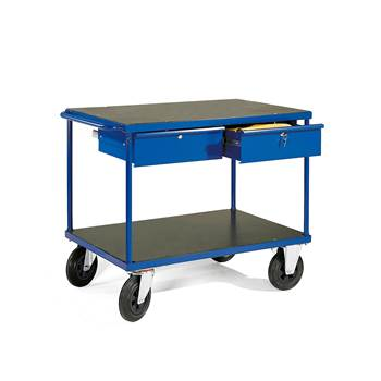 Workshop trolley, 2 drawers, 350 kg load, 1000x700x780 mm