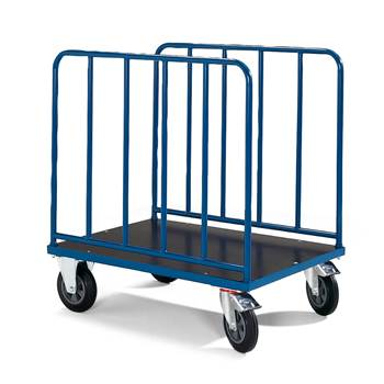 High sided trolley, brakes, 600 kg load, 1000x700x1045 mm