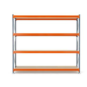 Widespan shelving, basic unit, 2500x2700x600 mm, chipboard