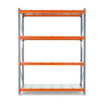Widespan shelving, basic unit, 2500x1825x1000 mm, steel