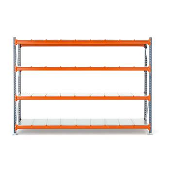 Widespan shelving, basic unit, 2000x2700x600 mm, steel