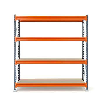 Widespan shelving, basic unit, 2000x1825x600 mm, chipboard