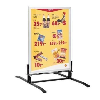 Lakier aluminium stojak reklaowy, potykacz, Plakat 50 x 70