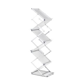Portable brochure rack with case, 1450x260x320 mm