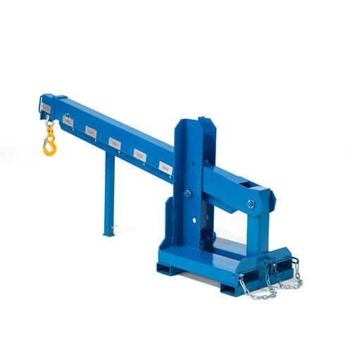 Fork mounted extending jib: L3600 x W500mm