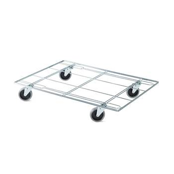 Stackable wire mesh trolley, 410x620 mm