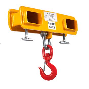 Adjustable fork mounted hook, 2500 kg load