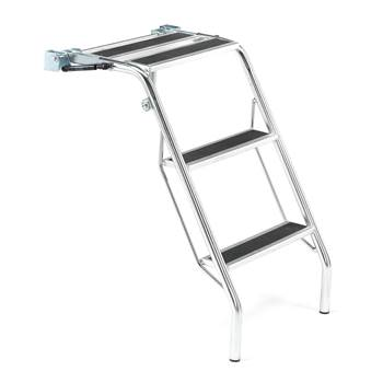 Ladder for shelf trolleys
