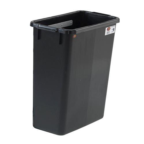 Waste bin for shelf trolleys