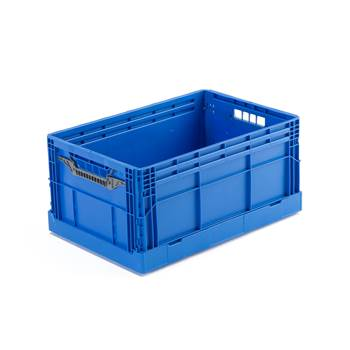 #en Collapsible box, blue, 600x400x285 mm